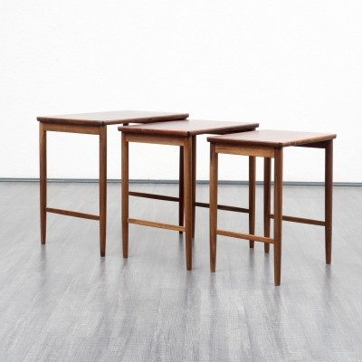 Set of 3 vintage nesting tables, 1960s