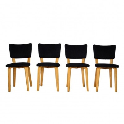 Set of 4 dining chairs by Cor Alons for C. den Boer, 1950s