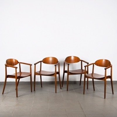 Set of 4 dinner chairs by Antonin Šuman for Ton N. P. Bystřice pod Hostýnem, 1960s
