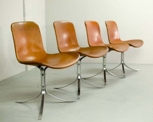 First Edition PK9 Dining Chairs by Poul Kjaerholm for E. Kold Christensen, 1960s