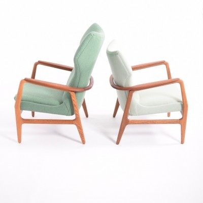 Pair of Karen & Edith lounge chairs by Aksel Bender Madsen for Bovenkamp, 1950s