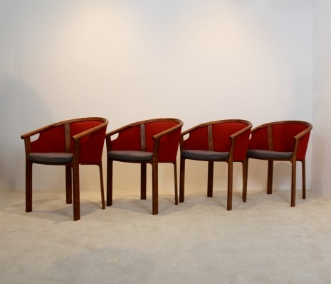 Set of 4 Magnus Olesen teak dining chairs by Rud Thygesen & Johnny Sørensen