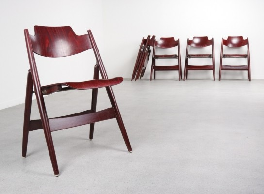 6 x SE18 dinner chair by Egon Eiermann for Wilde und Spieth, 1950s