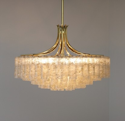 Monumental Chandelier hanging lamp by Doria Leuchten, 1960s