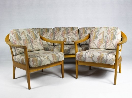 Vintage German Cherrywood Lounge Suite by Wilhelm Knoll for Knoll Inc. / Knoll International