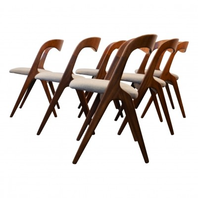 Set of 6 dinner chairs by Erik Wørts for Vamo Sonderborg, 1960s