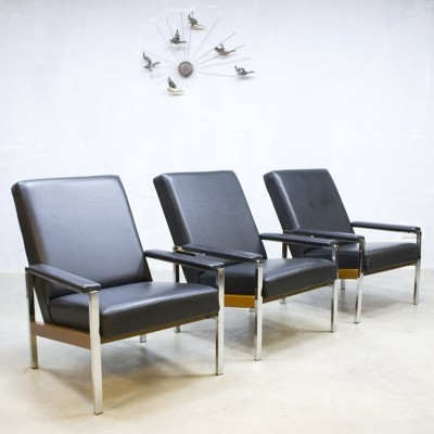 3 x J. Mertens arm chair, 1970s