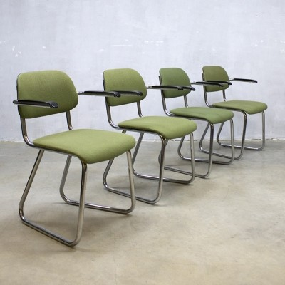 4 x model 212 arm chair by Gispen, 1950s