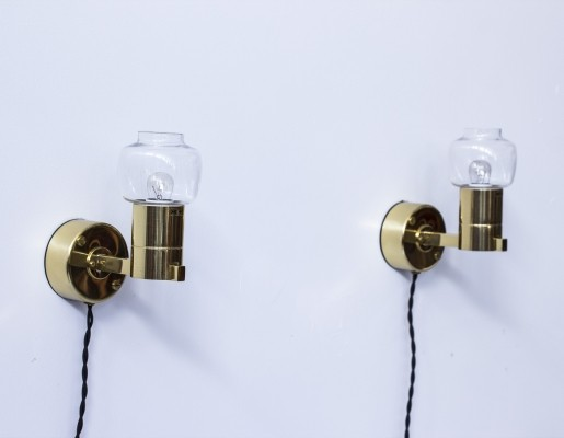 Pair of V306 wall lamps by Hans Agne Jakobsson, 1960s