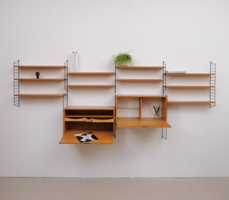 Wall unit by Nisse Strinning for String, 1940s