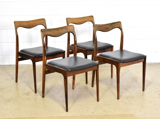 Set of 4 AWA dinner chairs, 1950s