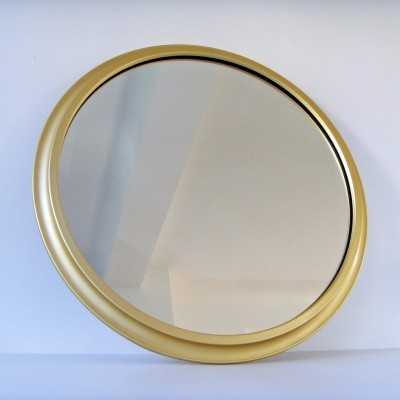 11 x large vintage golden mirror by Pierre Vandel