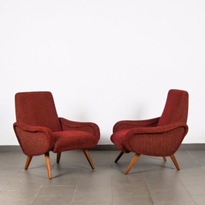 Pair of Marco Zanuso arm chairs, 1950s