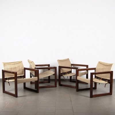 Set of 4 Karin Mobring arm chairs, 1970s