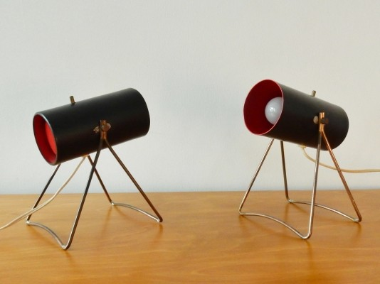 Pair of Table or bedside/wall lamps by Sven Aage Holm Sørensen for ASEA