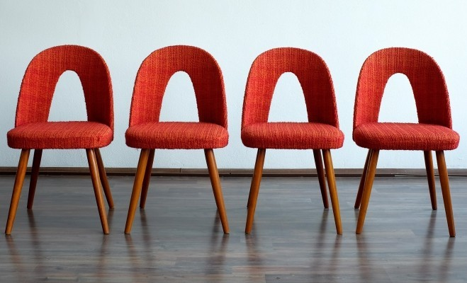 Set of 4 dinner chairs by Antonín Šuman for Tatra Nabytok NP, 1960s