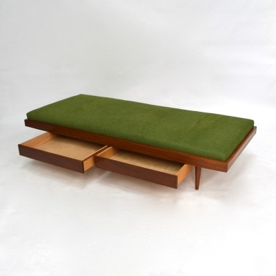 Teak daybed with 2 drawers, 1950s