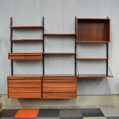 'Royal' wall unit in rosewood by Poul Cadovius