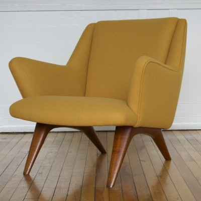 Danish ML Armchair by Illum Wikkelso for Mikael Laursen in Kvadrat Wool, 1950s