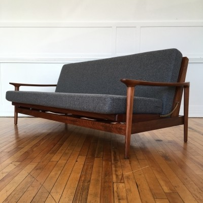 British Mid Century Guy Rogers New Yorker Sofa Bed, 1960s