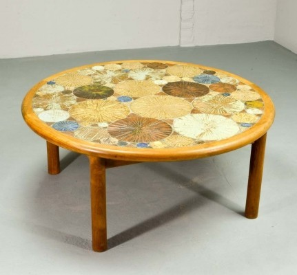 Ceramic Art Tiles Coffee Table by Tue Poulsen for Haslev, Denmark