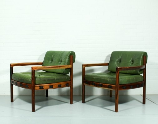 Pair of Arne Norell AB lounge chairs, 1960s