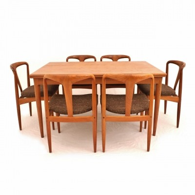 Danish teak dining set by Johannes Andersen for Uldum Møbelfabrik