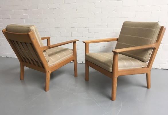 2 x GE265 lounge chair by Hans Wegner for Getama, 1970s