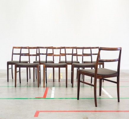 Set of 8 Model 430 dinner chairs by Helge Sibast for Sibast, 1950s