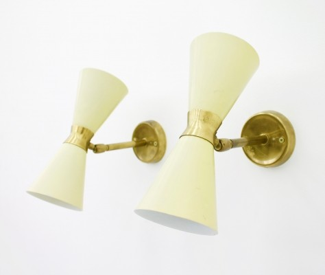 Pair of small Wall Sconces, 1950s