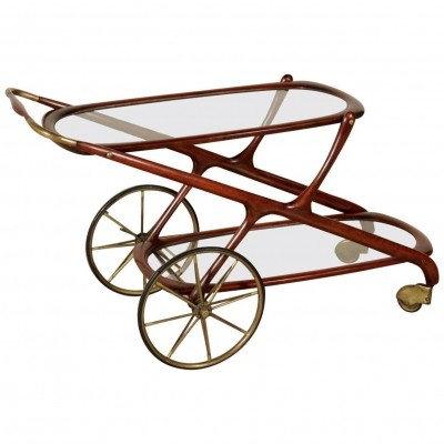 Vintage serving trolley from Italy, 1950s