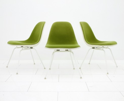 3 x H-Low Base lounge chair by Charles & Ray Eames for Vitra, 1960s