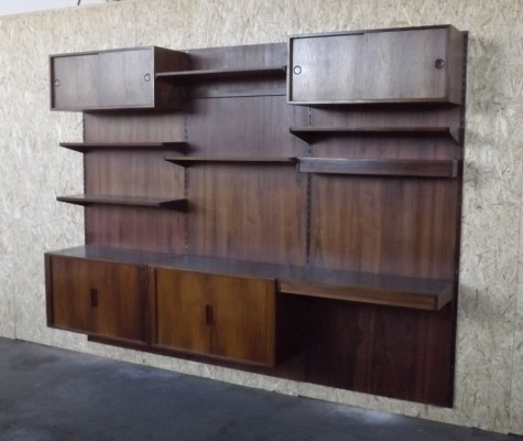 Wall unit by Kai Kristiansen for FM Mobel, 1950s