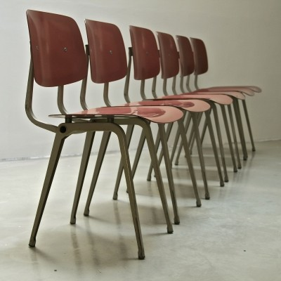 Set of 6 Revolt dinner chairs by Friso Kramer for Ahrend de Cirkel, 1960s