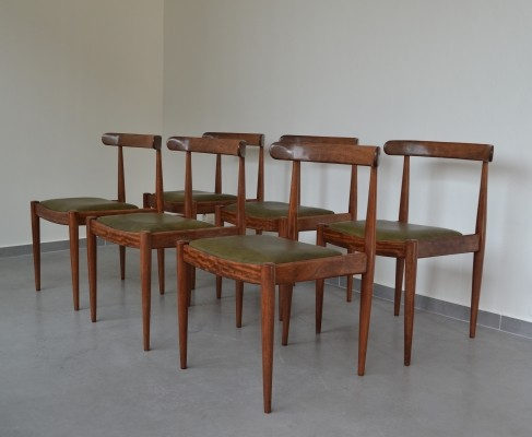 Set of 6 dinner chairs by Alfred Hendrickx for Belform, 1960s