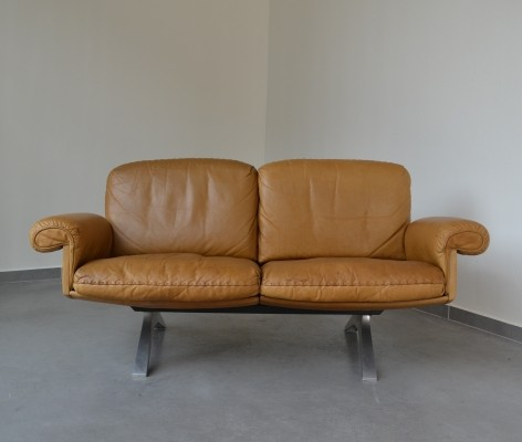 DS 31 two seater De Sede sofa in cognac leather, 1970s