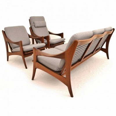 Dutch Teak seating group by De Ster Gelderland