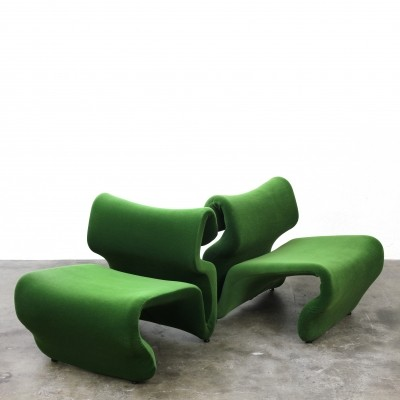 Pair of Et Cetera lounge chairs by Jan Ekselius for JOC Vetlanda, 1960s