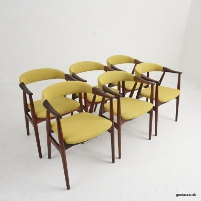 Set of 6 Farstrup dinner chairs, 1950s