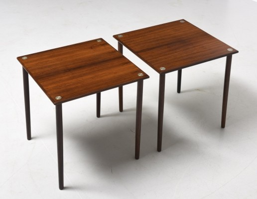 Pair of rosewood side tables by Georg Petersen, 1960s