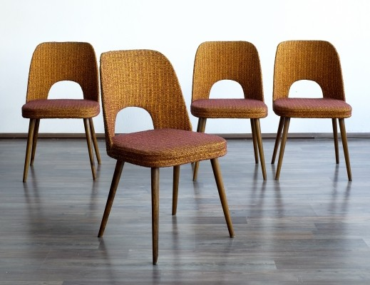 Set of 4 dining chairs by Oswald Haerdtl for Ton N. P. Bystřice pod Hostýnem, 1950s
