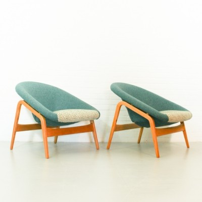 Pair of Model 118 Columbus Pot lounge chairs by Hartmut Lohmeyer for Artifort, 1950s