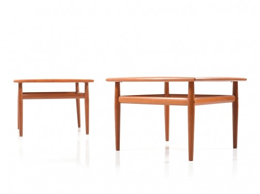 Pair of square Sofa Tables in Teak by Grete Jalk, 1960s