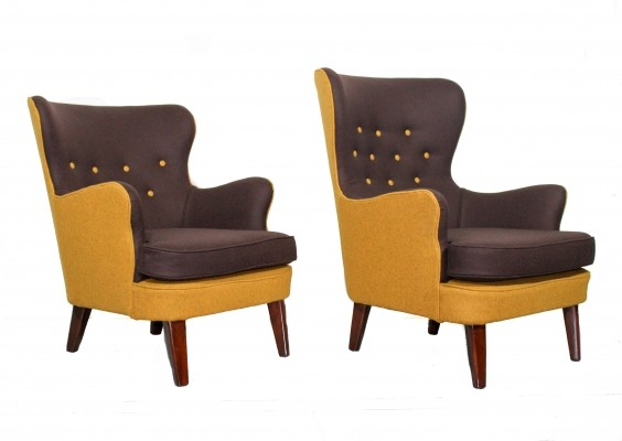 Pair of arm chairs by Theo Ruth for Artifort, 1950s
