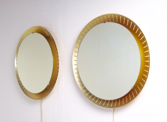 2 x Illuminated mirror by Stilnovo, 1950s