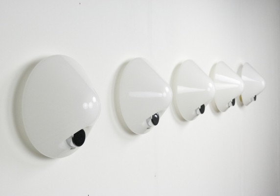 5 x wall lamp by Harvey Guzzini for Guzzini, 1970s