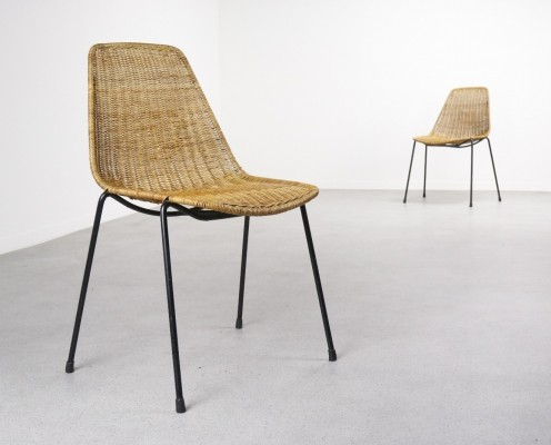 2 x dining chair by Gian Franco Legler for Aarea, 1950s