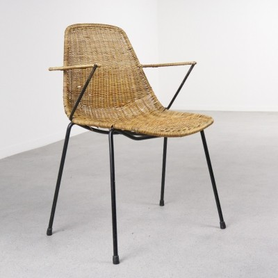 Basket dining chair by Gian Franco Legler for Aarea, 1950s