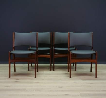 Set of 4 Johannes Andersen dinner chairs, 1960s