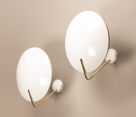 Pair of wall lamps by Bruno Gatta for Stilnovo, 1960s